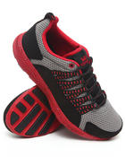Footwear - Owen Grey Mesh/Black Microfiber Sneakers