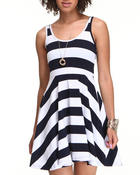 Dresses - Stripe Skater Dress