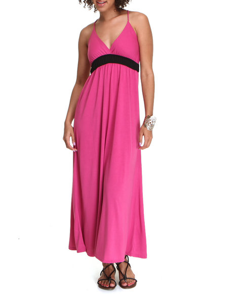 Basic Essentials Women Dark Pink 18-Th Hole Dress