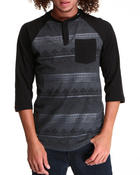 LRG - Disorderlies Raglan Henley Tee