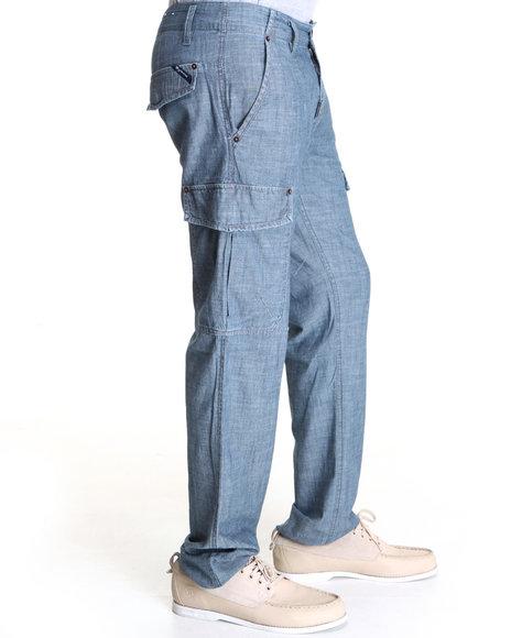 LRG Blue Bon Voyage Cargo True-Straight Pants