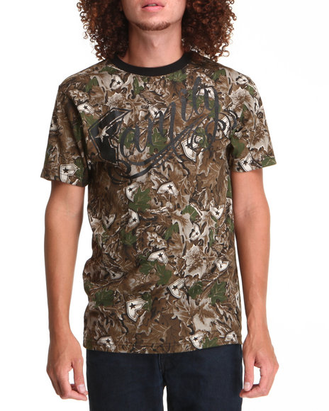Famous Stars & Straps - Men Black,Camo Real Tree Tee