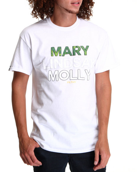 Filthy Dripped - Men White Mary Lindsay Molly T-Shirt