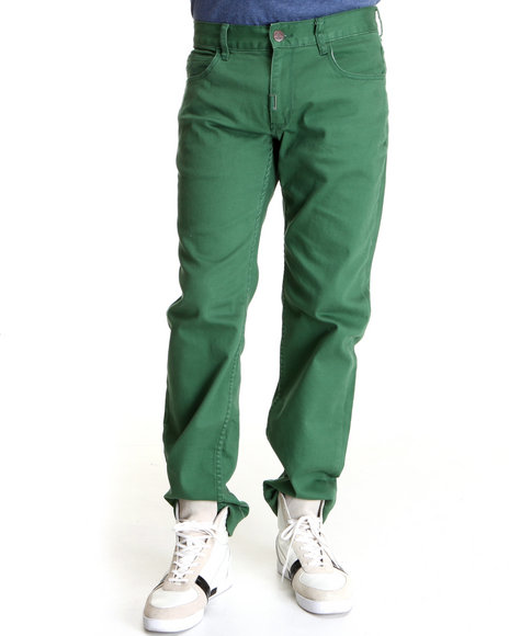 LRG Men Forest Green Core Collection True - Straight Twill Pants