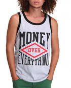 Shirts - Money Over Everything Tank Top