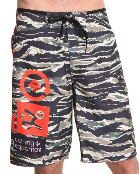 LRG Men Camo Core Collection Jungle Boardshorts
