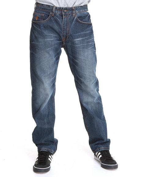 Rocawear Men Medium Wash Sail Classic Fit Jeans