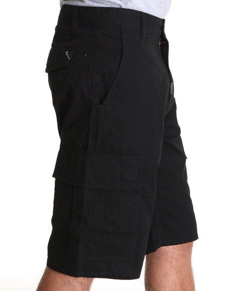 LRG Men Black Core Collection Classic Cargo Shorts