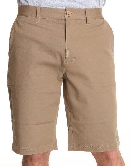 LRG Men Khaki Core Collection True - Straight Chino Short