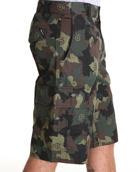 LRG Men Camo,Olive Core Collection Classic Cargo Shorts