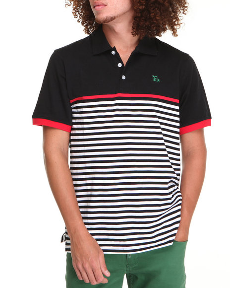 LRG Men Black Down From Earth S/S Polo