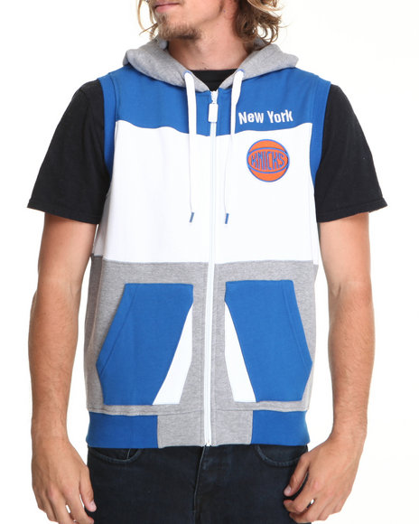 Nba, Mlb, Nfl Gear - Men Grey New York Knicks 3Rd Degree Sleeveless Vest