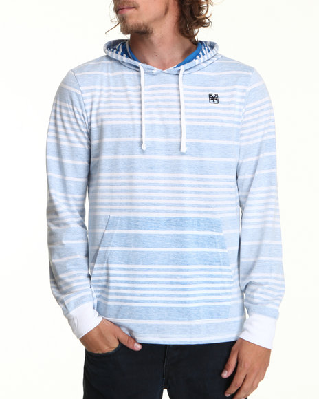 Zoo York Men Blue Minesweeper Stripe Pullover