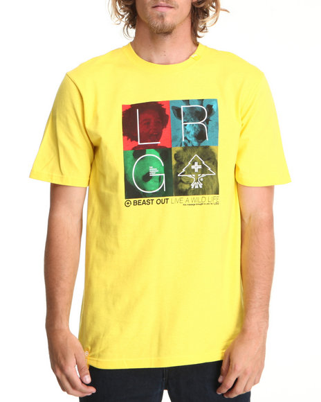 LRG Men Yellow Beasting Out Tee