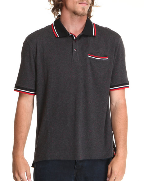 Rocawear Men Deck S/S Polo Black X-Large