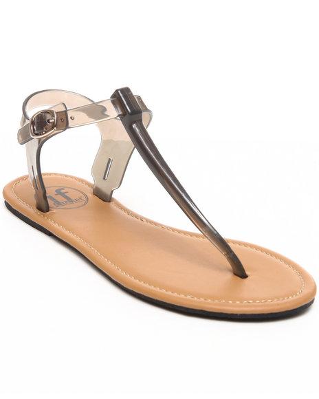 Fashion Lab - Women Grey Clear Sandal (Grey