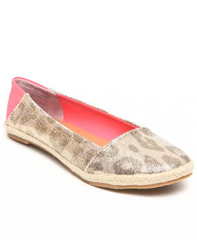 Not Rated - Shiny Animal Print Comfy Flat
