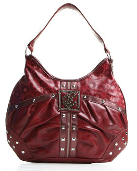 Rocawear - Ruched Zipper Trim Signature Hobo