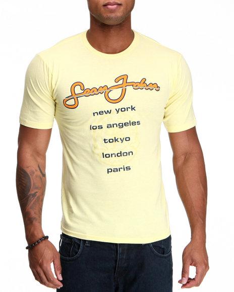 Sean John Men Yellow S J International S/S Tee