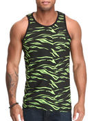 Men - Tiger Print Pocket Tank Top