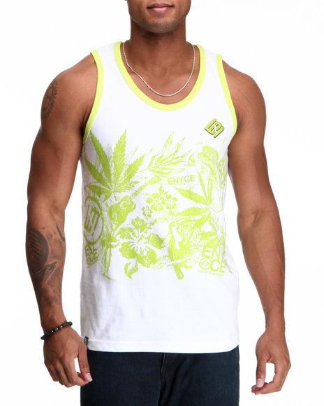 Enyce Men Lime Green,White Endless Summer Tank