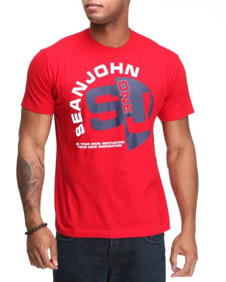 Sean John Men Red S J One S/S Tee