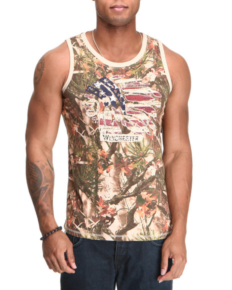 Winchester Men Camo Flagz Camo Tank Top