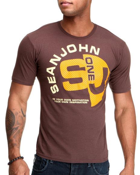 Sean John Men Brown S J One S/S Tee