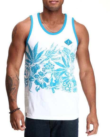 Enyce Men Blue,White Endless Summer Tank