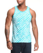 Men - Zebra Print Tank Top