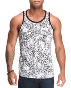 Men - Leopard Print Tank Top