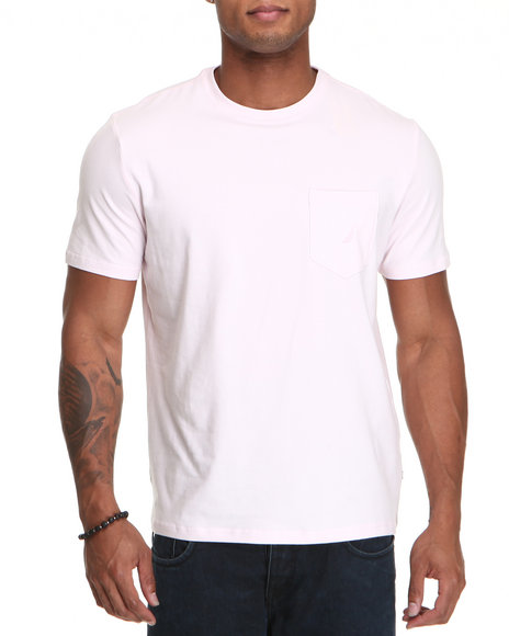 Nautica - Men Light Pink Nautica Core Pocket T-Shirt