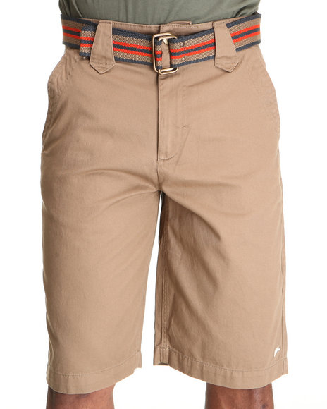 A Tiziano Men Brown Cats Flat Front Shorts