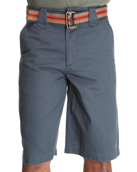 A Tiziano Men Grey,Navy Cats Flat Front Shorts