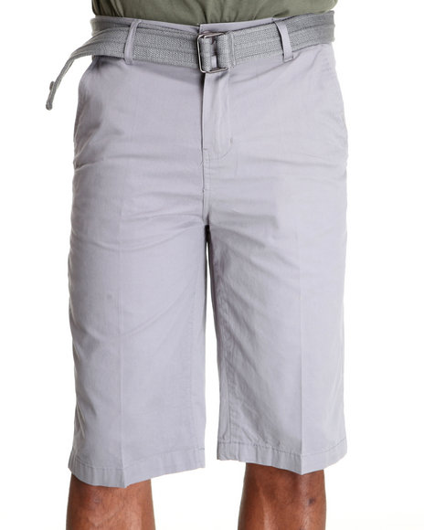 Miskeen - Men Grey Chino Shorts W/Belts - $35.99