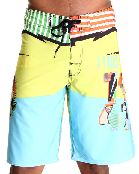 LRG Men Multi Hot Wave Boardshorts