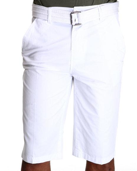 Miskeen Men Chino Shorts WBelts White 40