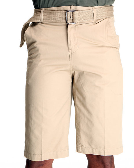 Miskeen Men Khaki Chino Shorts W/Belts