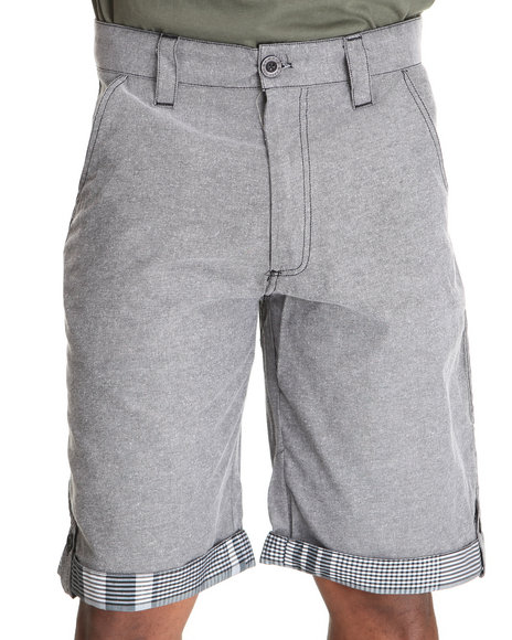 Enyce Men Grey Scorpio Chambray Short