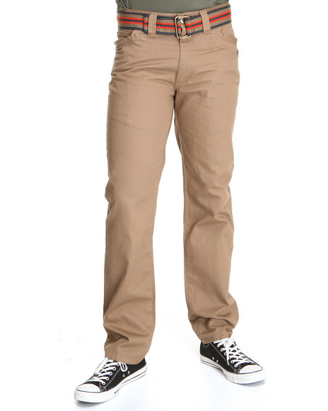 A Tiziano Men Khaki,Orange Lincoln Straight Fit Denim Jeans