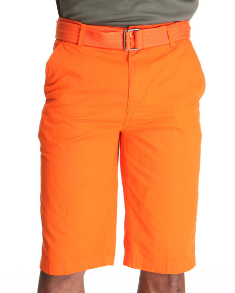 Miskeen Men Orange Chino Shorts W/Belt
