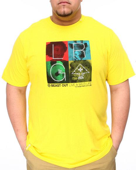 LRG Men Yellow Beasting Out Tee (B&T)