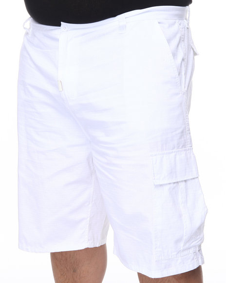 LRG Men White Core Collection Classic Cargo Shorts (B&T)