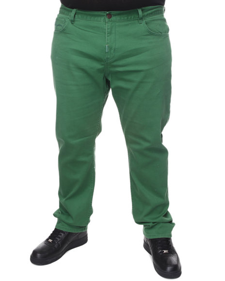 LRG Men Green Core Collection True - Straight Twill Pants (B&T)