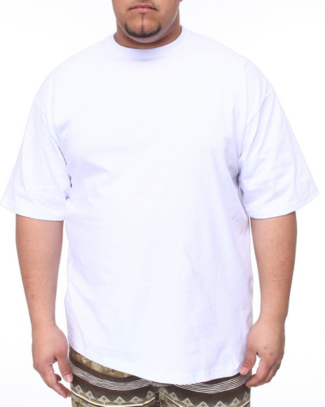 Basic Essentials Men White Plain Short Sleeve Crew Neck Tee (B&T)