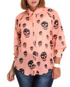 Tops - Skull High Low Top (Plus)
