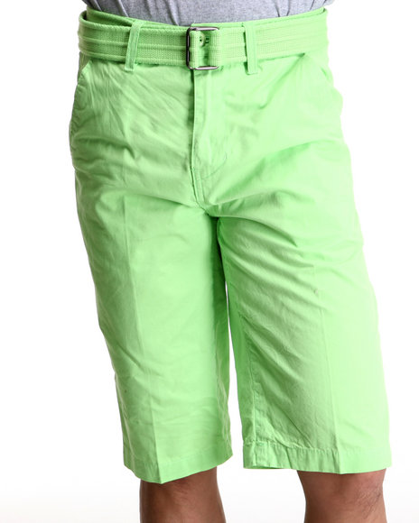 Miskeen Yellow,Green Chino Shorts W/Belts