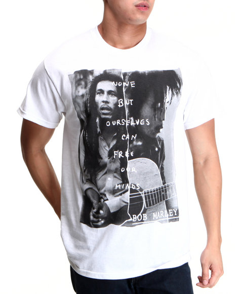 Buyers Picks Men White Free Our Minds Tee