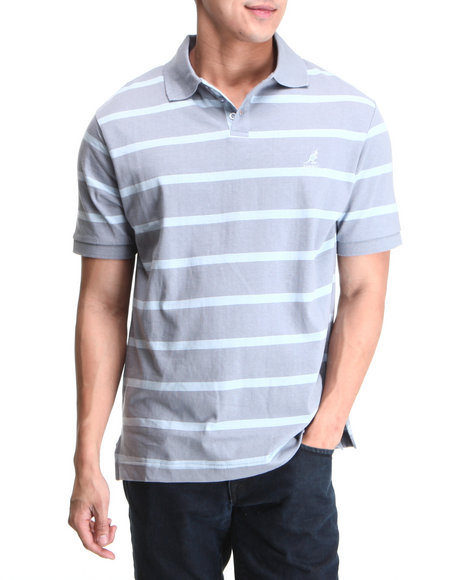 - Striped Pique Polo