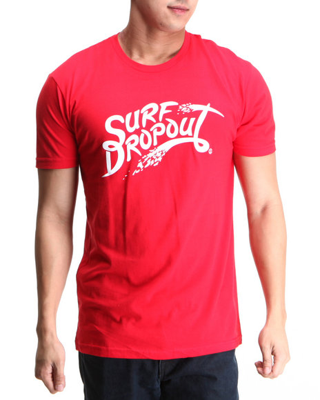 Cali's Finest - Men Red C F Surf Dropout Tee - $11.99